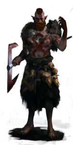 Connriacht - barbarzyńca klanu Wilka