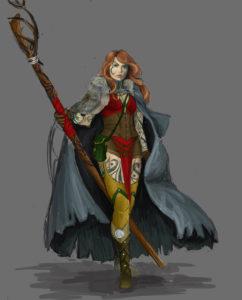 Connriacht - szamanka klanu Jelenia