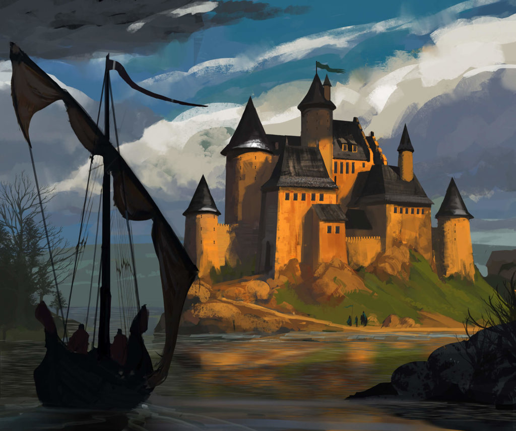 Somoria - zamek na wyspie
