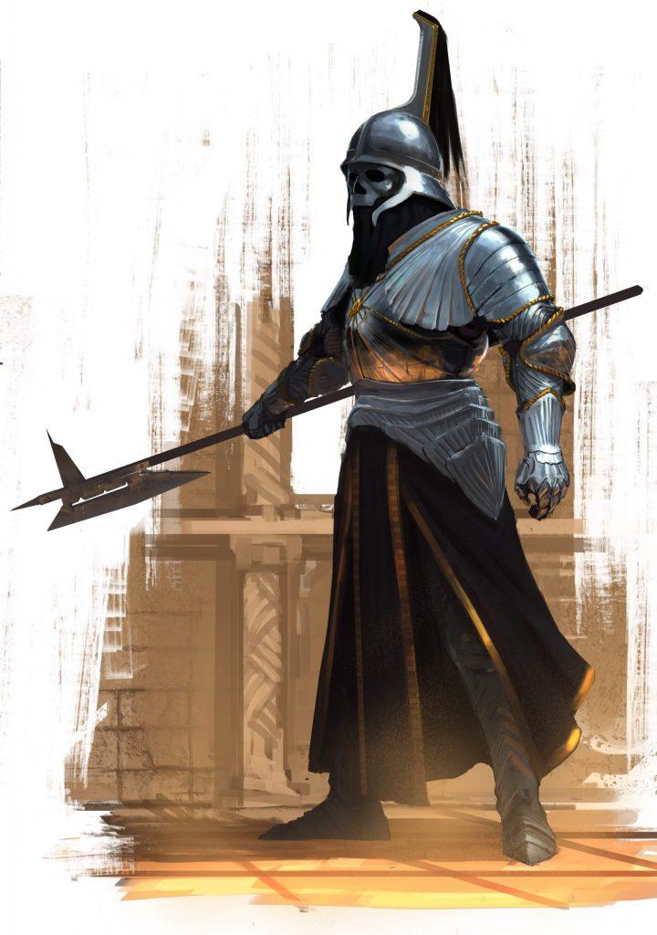 Somoria - Kuzyn Śmierci, elitarny halabardnik z gwardii Arcykapłana Eklezji