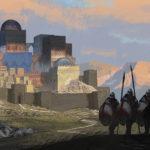 Talmidia - mag z oddziałem żołnierzy na tle Messerach